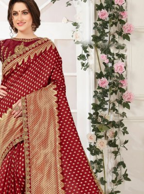 Maroon Traditional Saree