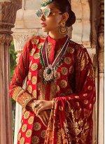 Maroon Zari Georgette Salwar Suit