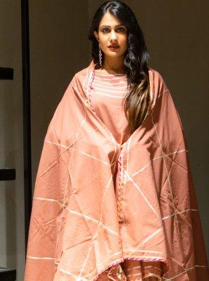 Mauve  Lace Cotton Lehenga Choli