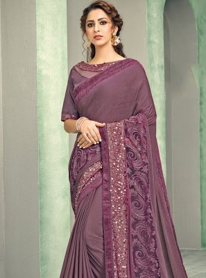 Mauve  Reception Classic Saree