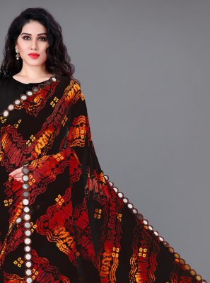 Mirror Faux Georgette Casual Saree in Multi Colour