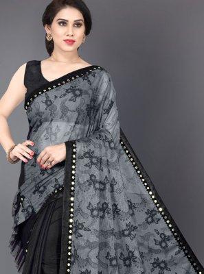 Mirror Lycra Traditional Saree
