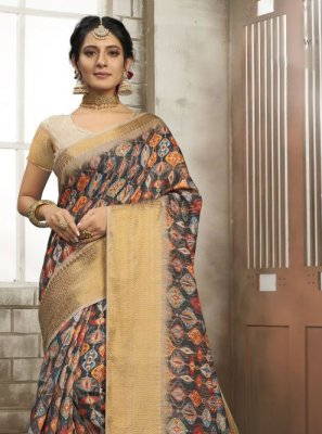 Multi Colour Art Silk Party Classic Designer Saree