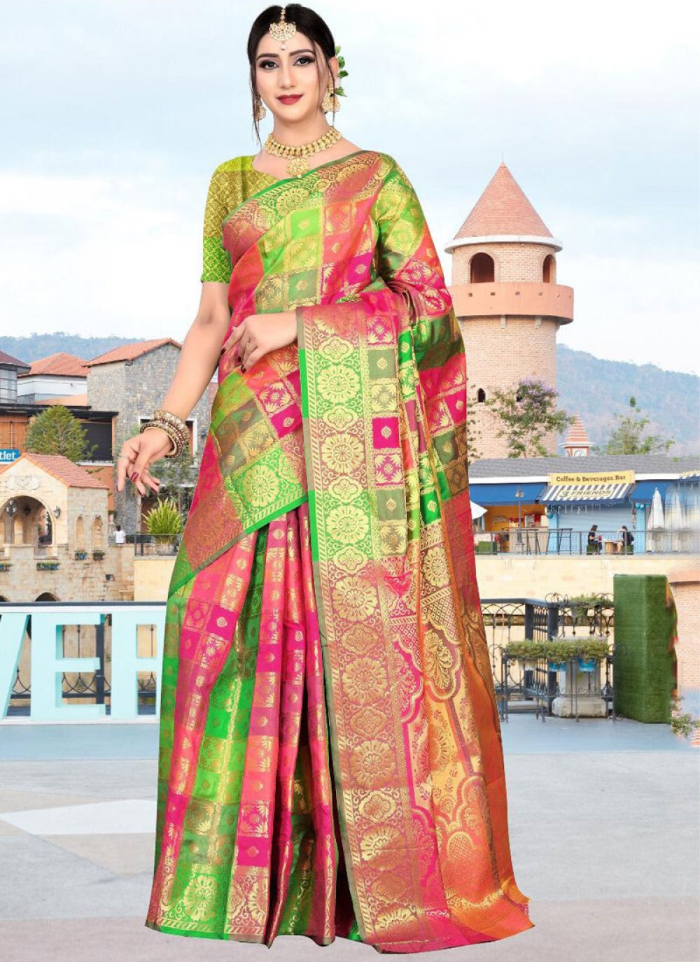Multi Colour Art Silk Party Classic Saree