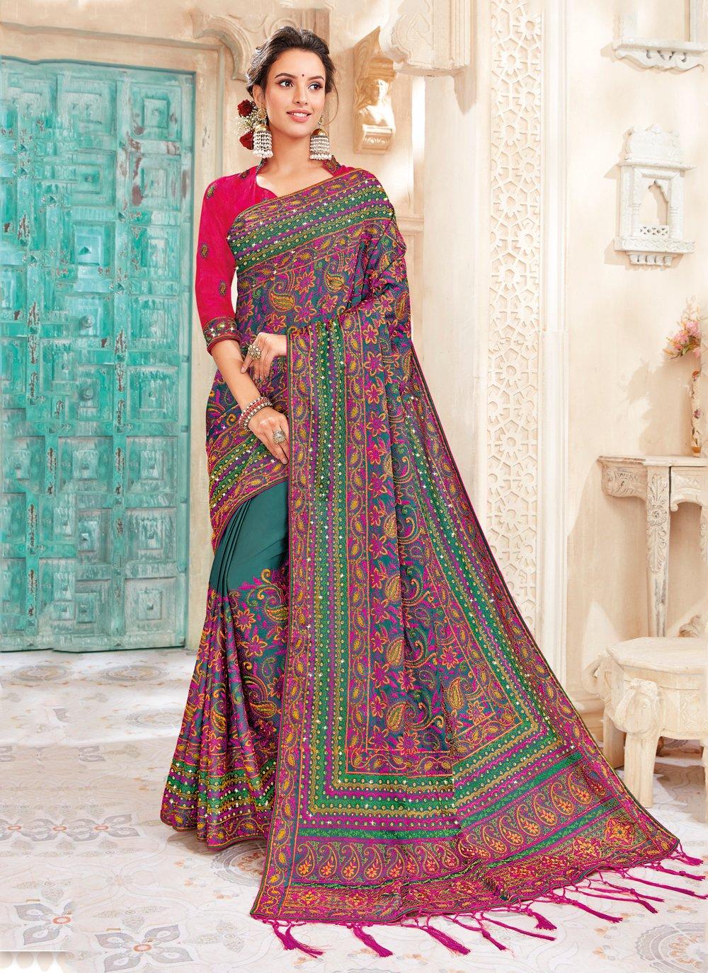 Multi Colour Art Silk Saree