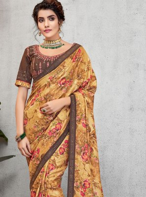 Multi Colour Art Silk Traditional Designer Saree