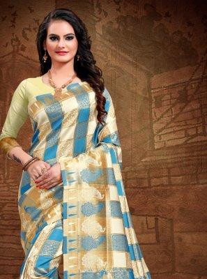 Multi Colour Art Silk Woven Traditional Saree