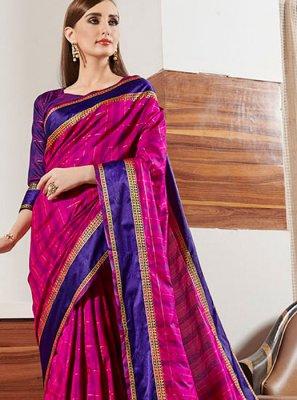 Multi Colour Border Classic Designer Saree