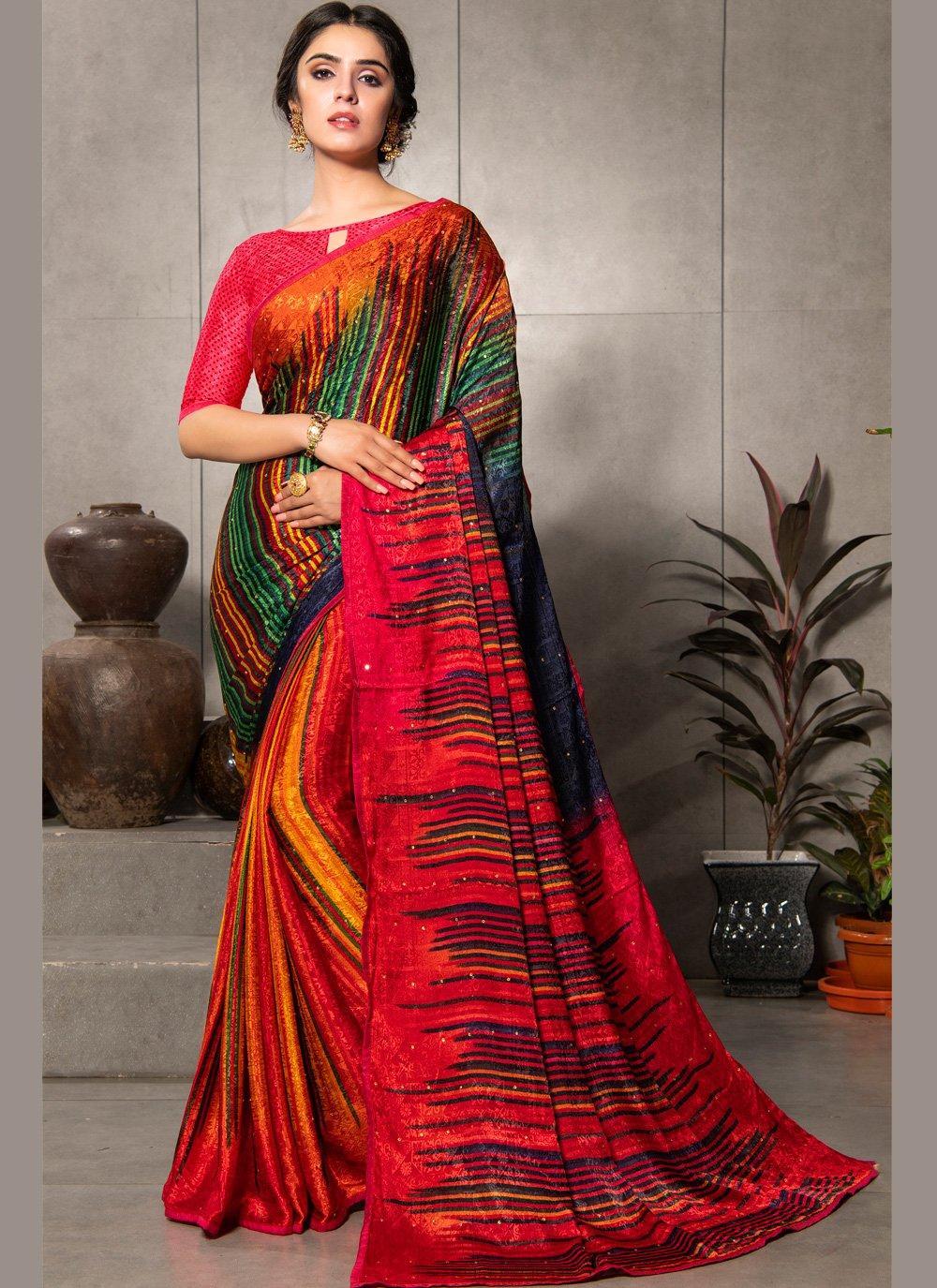 Multi Colour Casual Casual Saree