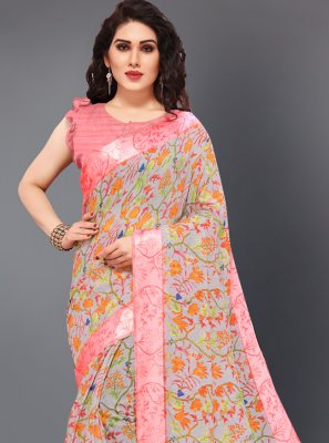 Multi Colour Casual Cotton Casual Saree