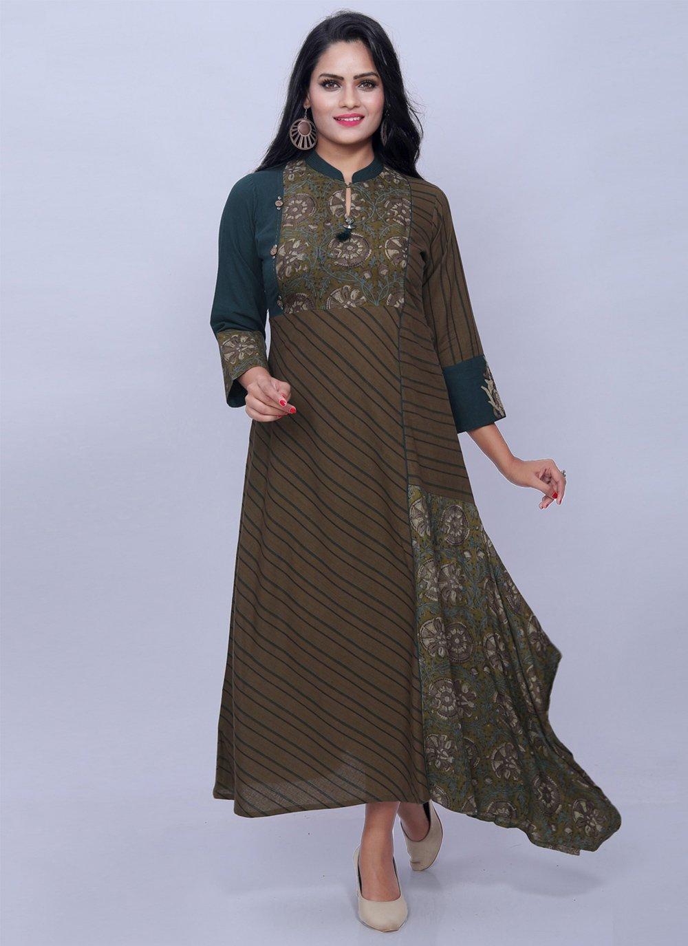 Multi Colour Casual Cotton Designer Kurti