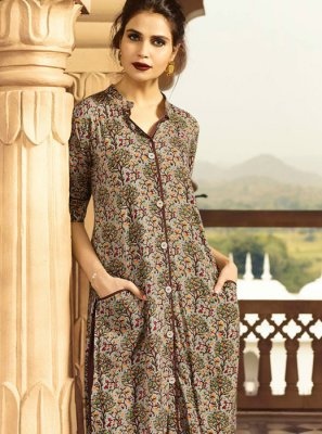 Multi Colour Casual Kurti