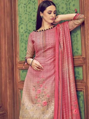 Multi Colour Casual Palazzo Salwar Suit