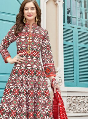 Multi Colour Ceremonial Anarkali Suit