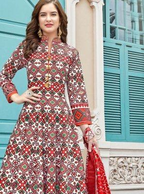 Multi Colour Ceremonial Anarkali Suit