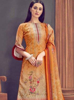 Multi Colour Ceremonial Pashmina Patiala Salwar Kameez