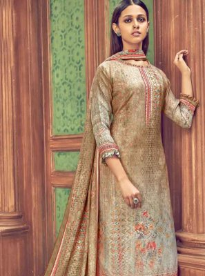 Multi Colour Ceremonial Pashmina Trendy Salwar Suit