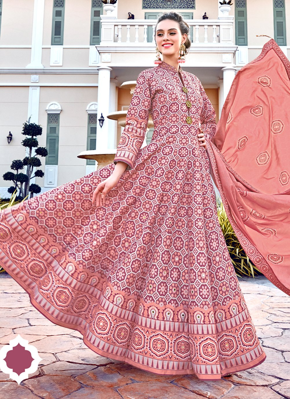 Multi Colour Color Readymade Gown