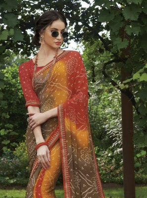 Multi Colour Color Saree