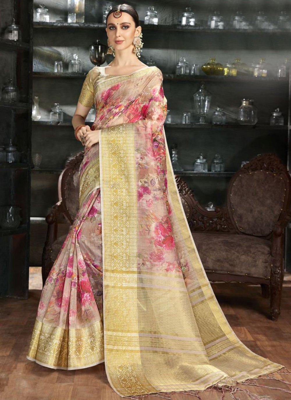 Multi Colour Color Silk Saree