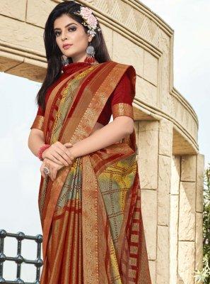 Multi Colour Contemporary Saree