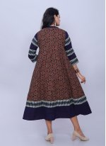 Multi Colour Cotton Casual Casual Kurti