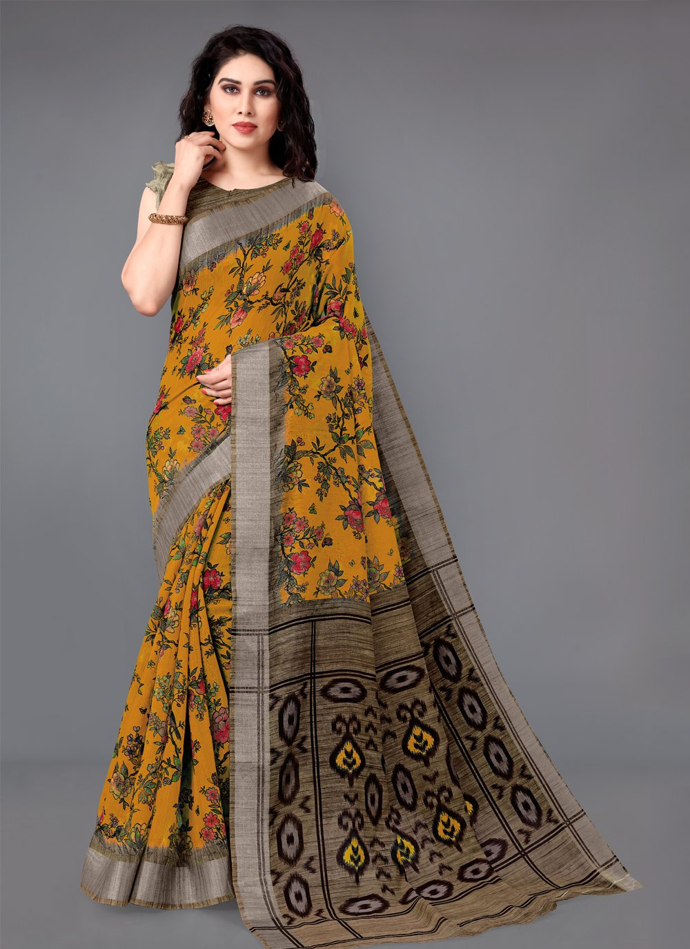 Multi Colour Cotton Classic Saree