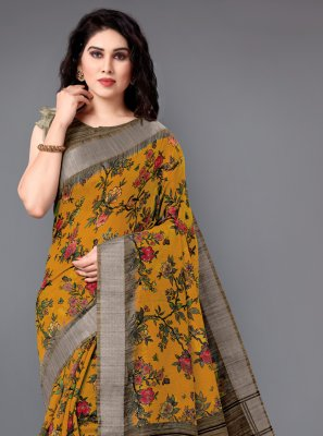 Multi Colour Cotton Classic Saree