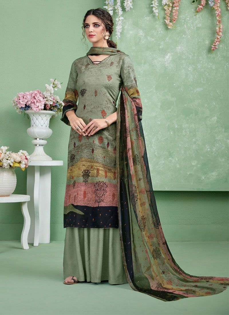 Multi Colour Cotton Designer Salwar Suit