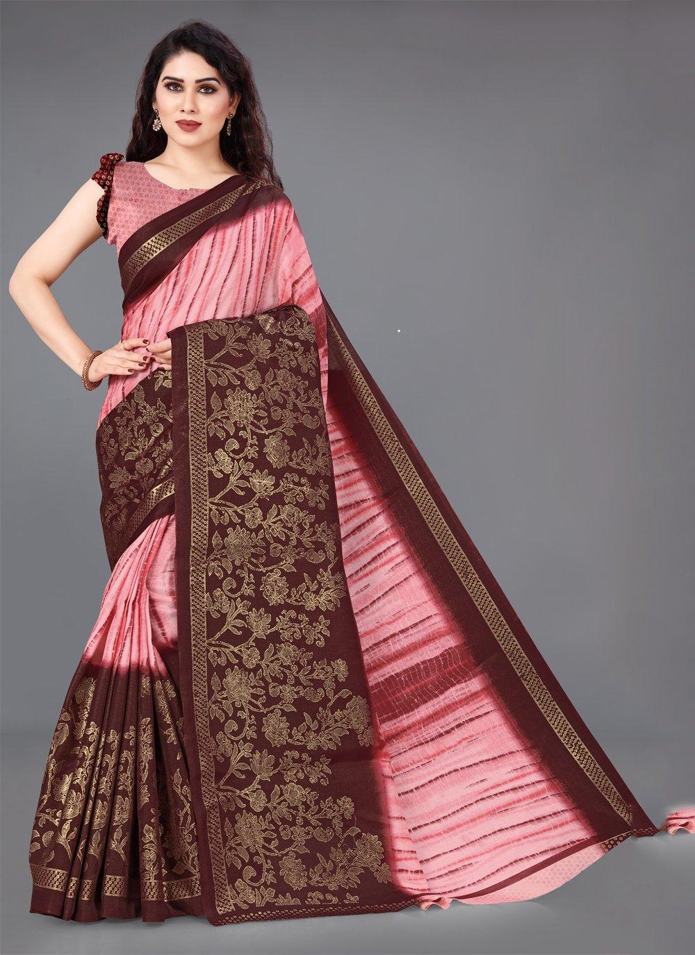 Multi Colour Cotton Designer Saree