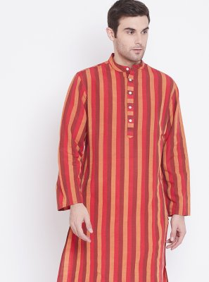 Multi Colour Cotton Printed Kurta Pyjama
