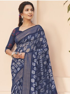 Multi Colour Cotton Silk Saree