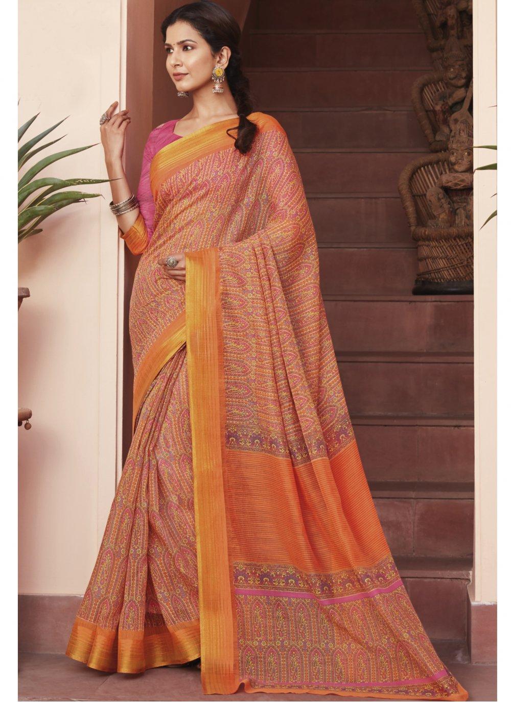 Multi Colour Cotton Silk Saree
