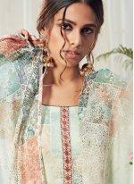 Multi Colour Cotton Trendy Straight Salwar Suit