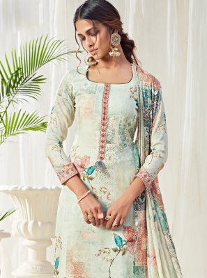 Multi Colour Cotton Trendy Straight Salwar Suit