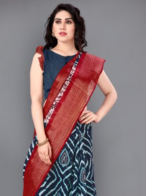 Multi Colour Cotton Zari Trendy Saree