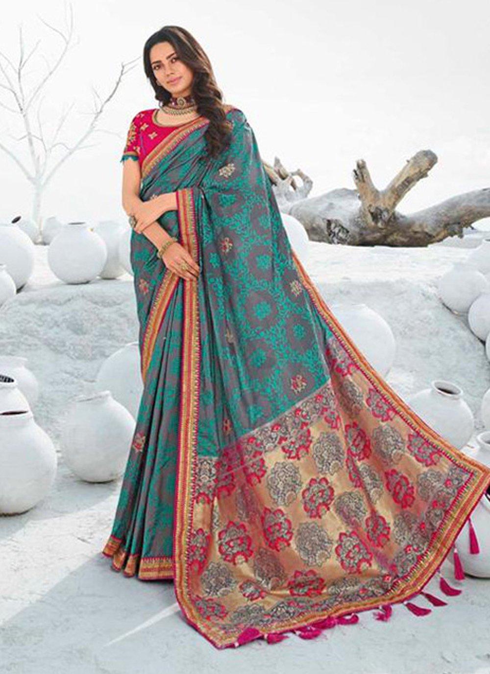 Multi Colour Designer Saree