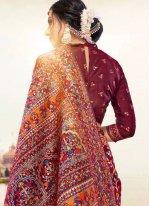 Multi Colour Digital Print Banarasi Silk Classic Saree