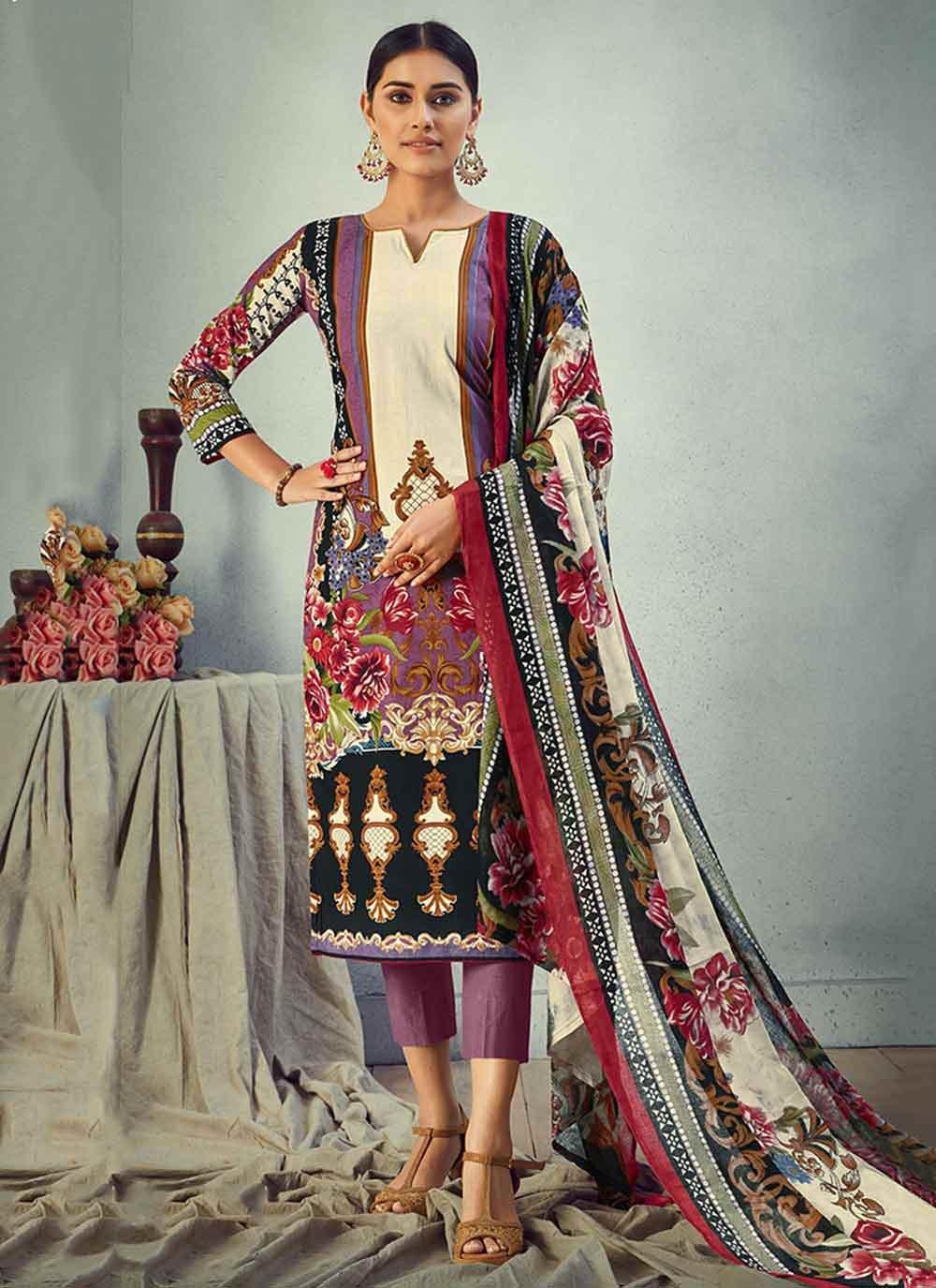 Multi Colour Digital Print Ceremonial Pant Style Suit
