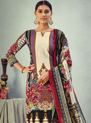 Multi Colour Digital Print Ceremonial Pant Style Suit