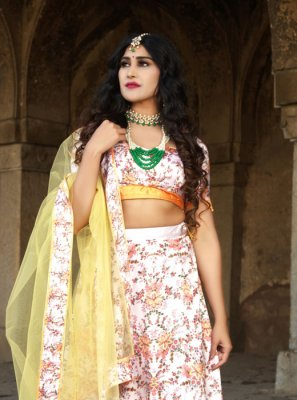 Multi Colour Digital Print Ceremonial Trendy Lehenga Choli