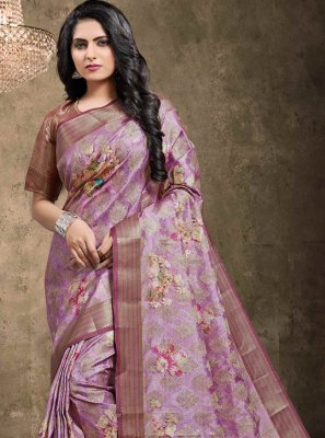 Multi Colour Digital Print Georgette Bollywood Saree