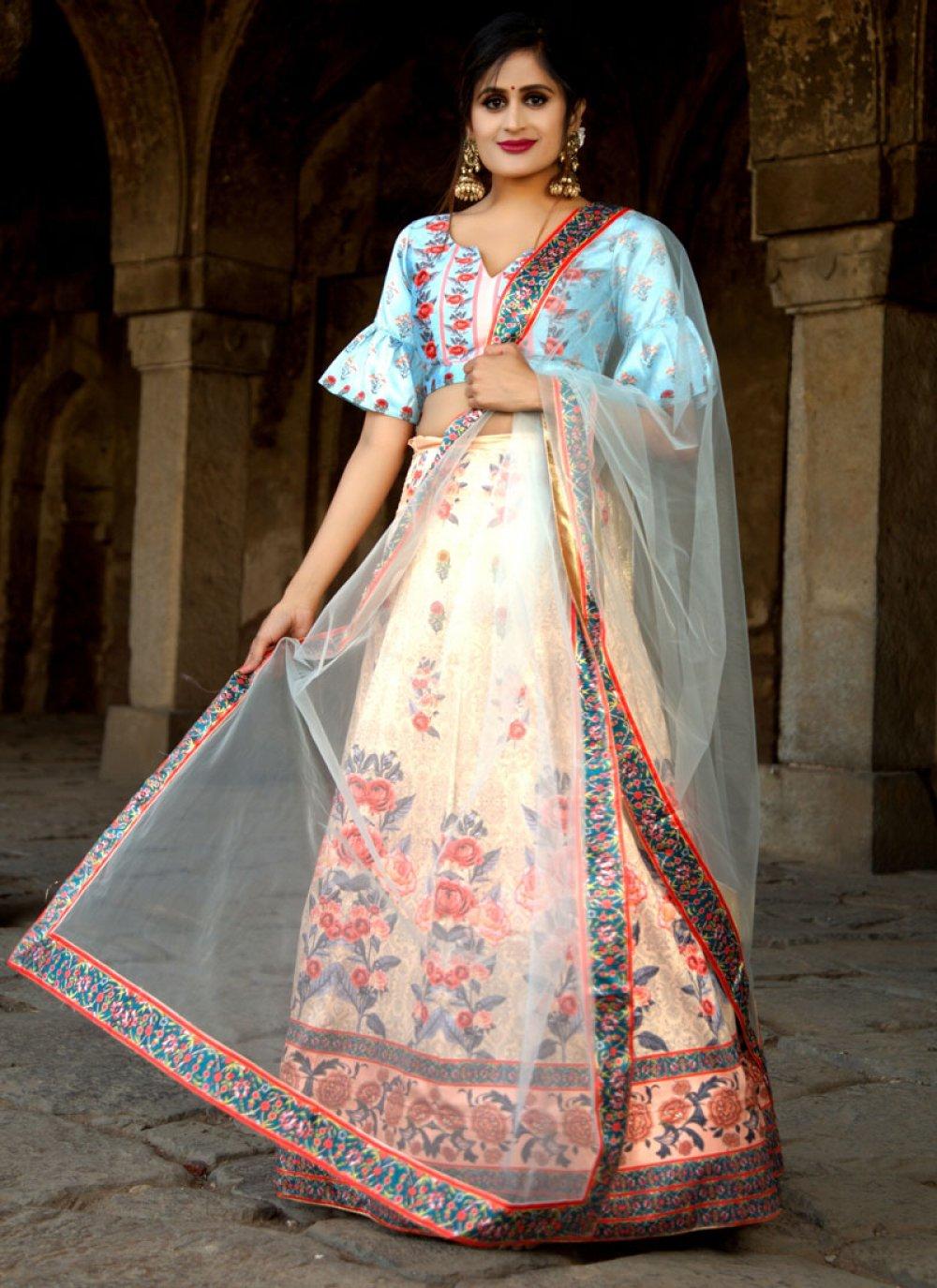 Multi Colour Digital Print Trendy Designer Lehenga Choli