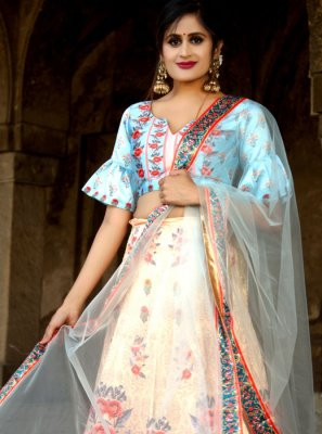 Multi Colour Digital Print Trendy Designer Lehenga Choli