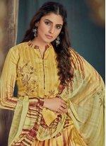 Multi Colour Digital Print Trendy Salwar Kameez