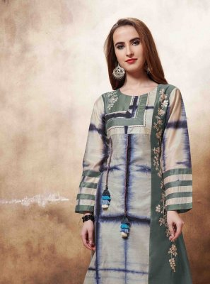 Multi Colour Embroidered Engagement Designer Kurti