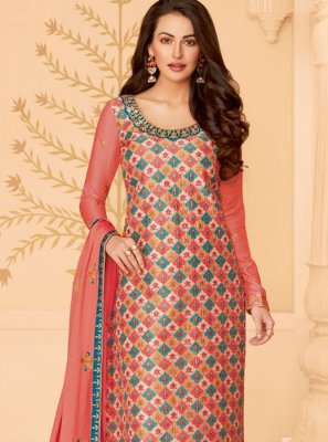Multi Colour Embroidered Reception Pakistani Salwar Suit