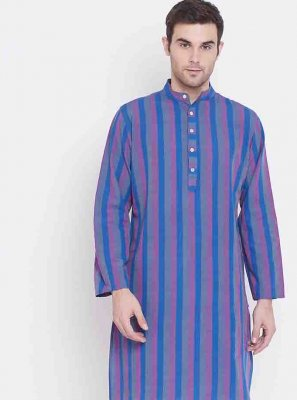 Multi Colour Engagement Cotton Kurta Pyjama