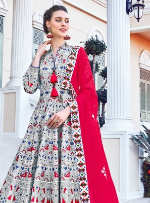 Multi Colour Engagement Designer Gown
