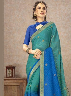 Multi Colour Fancy Fabric Casual Saree
